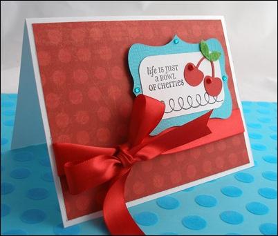 Tessa-Bowl of Cherries Card