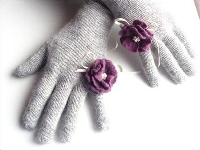 Grey purple flower
