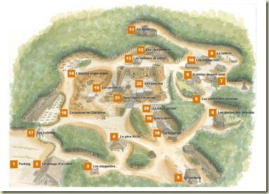 Guédelon - mapa de visitas