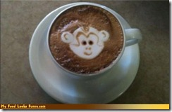 monkey in tea