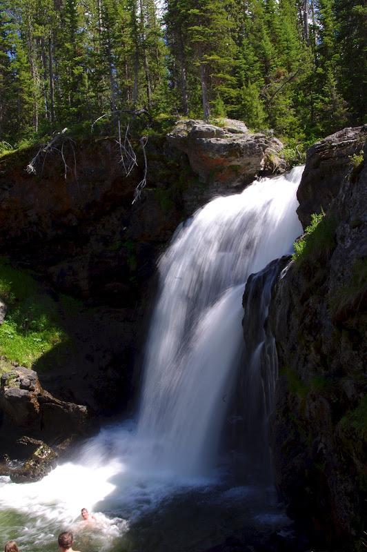 黃石國家公園的瀑布