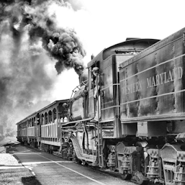 Full Steam Ahead by Andrea Ehmen - Transportation Trains ( history, cass scenic railroad, west virginia, loggers, pulp mill, historical, trains, steam )