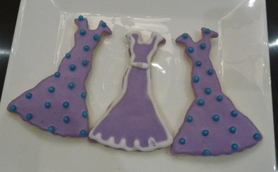 sugar cookie- purple dresses