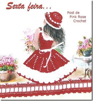 Pano de Copa Florista Sexta - PRose Crochet