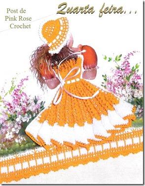 Pano de Copa Florista Quarta _ PRose Crochet
