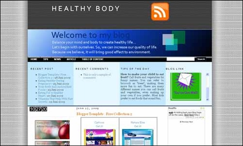 Healthy Living Template