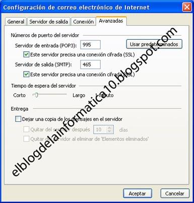 Configurar cuenta de Gmail en Outlook