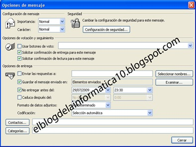 Programar envío de emails con Outlook