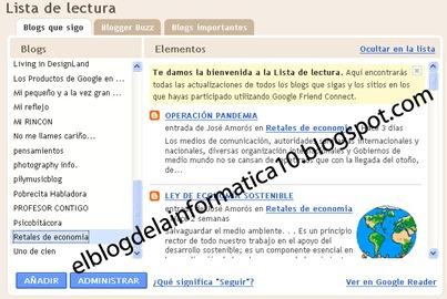imagen lista de lectura de Blogger