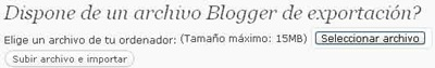 Importar blog de Blogger a WordPress