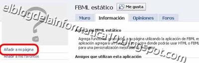 FBML para páginas de Facebook
