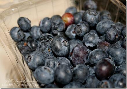 bluerries in basket