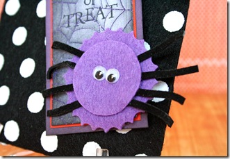 Trick or Treat Felt Bag CU Spider