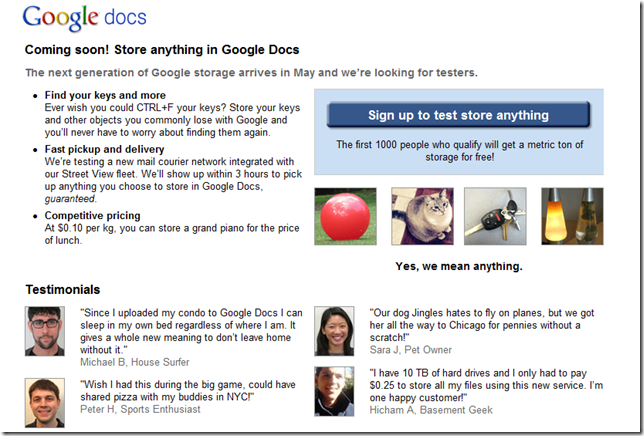 Coming soon! Store anything in Google Docs