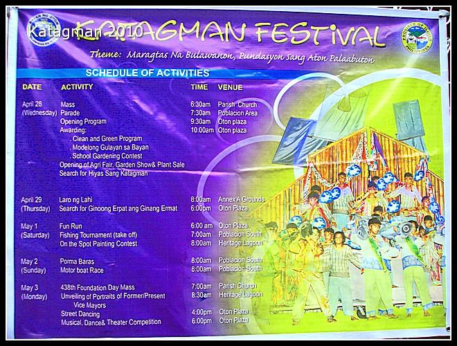 Katagman Festival 2010 Schedule
