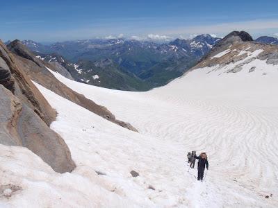 Pujant la glacera d'Ossoue