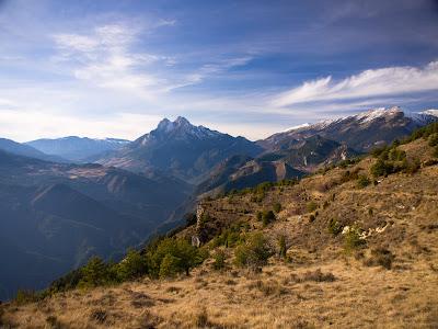 Vista cap al Pedraforca i el Cadí
