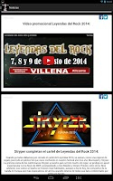 Screenshot of Leyendas del Rock 2014