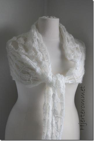hvitt sjal