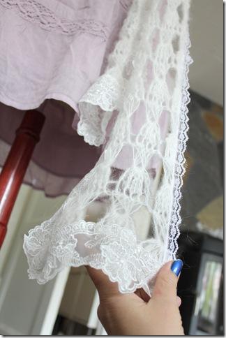 hvitt sjal detaljer