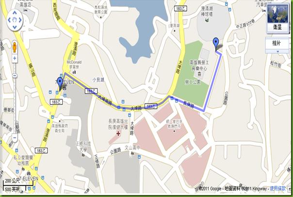 澄清會館地圖