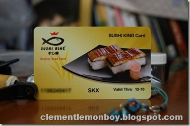 Sushi King Membership Card