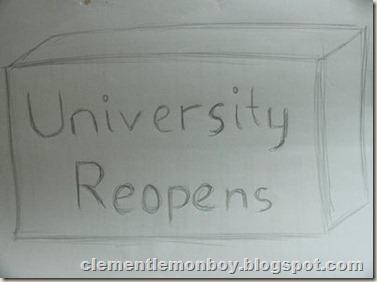 University Reopens