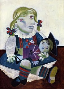 Portrait of Maya with her Doll, 1938, by Pablo Picasso