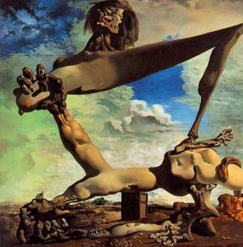 Soft construction with beans, Salvador Dali