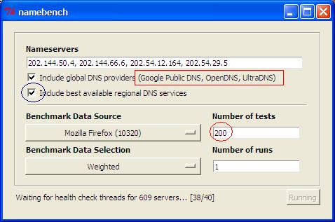 GoogleDNS-OpenDNS-NameBench-Compare