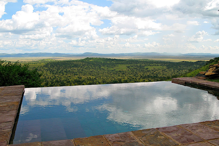 View from the Sasakwa cottage private plunge pool. All cottages boast equally amazing plunge pools and views.