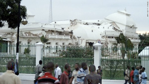 National Palace destroyed during Haitian earthquake Tuesday. Image credit: AFP/Getty Images. Source: CNN.