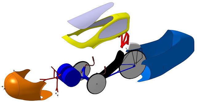 JTrike2 Projet Velomobile EclateSmall