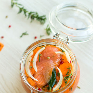 Herbed Carrot Smoked Salmon Marinade