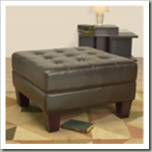 Overstock $215 (30x30- 18) Leather Tuffed Ottoman Dark Brown