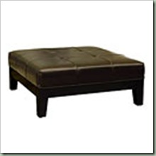 Overstock $309 (39x39 15.5) Narcy By-Cast Leather Brown Cocktail Ottoman