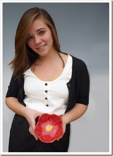 Marci with red poppy bowl