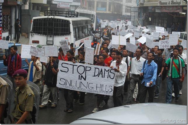 SHDC Mizoram Anti Dam Protest 6