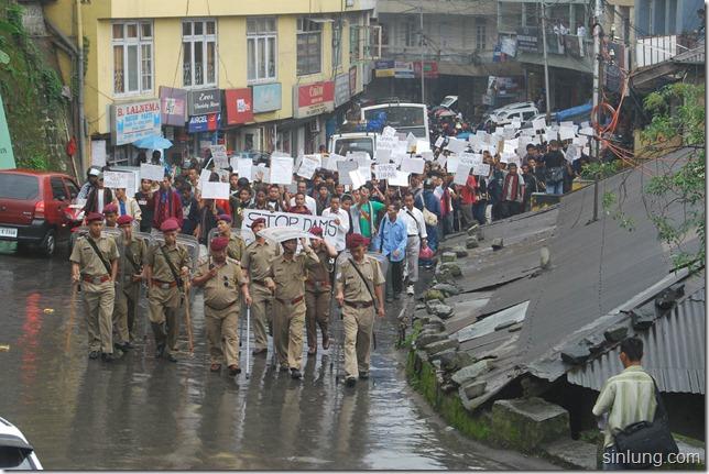 SHDC Mizoram Anti Dam Protest 7