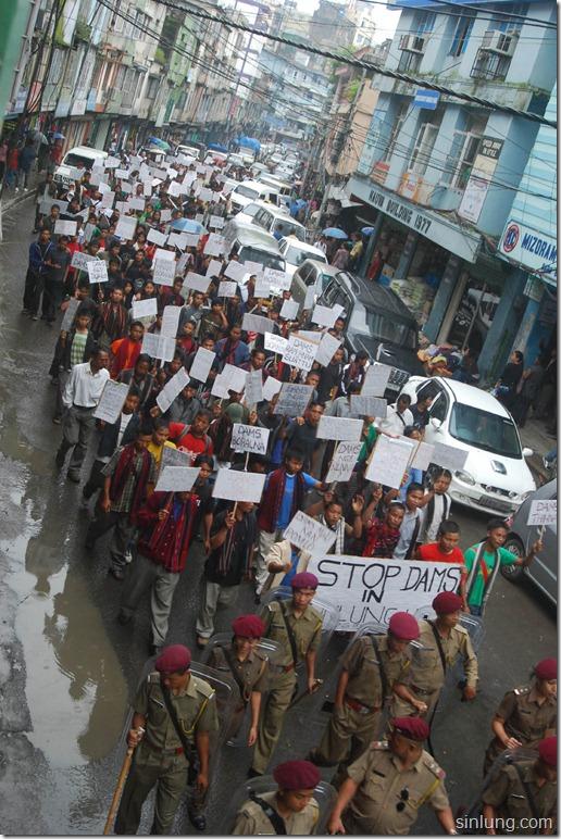 SHDC Mizoram Anti Dam Protest 9