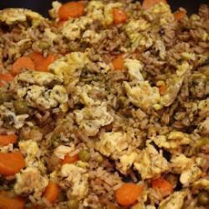 Nasi goreng (Indonesian vegetable fried rice)