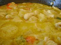 Pollo al curry verde tailandés
