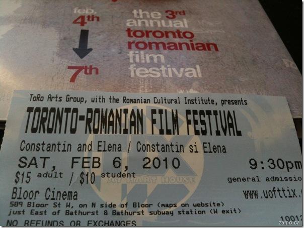 TORO Romanian Film Festival - Constantin si Elena ticket
