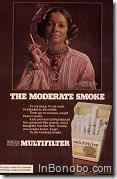 Black woman smoking - The moderate smoke