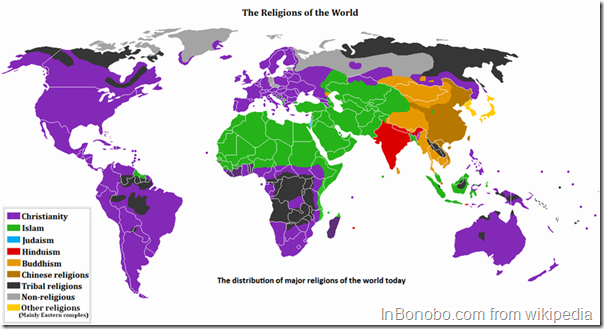 Religions of the World Map