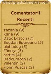 Comentatorii Recenti (2009.12.12)