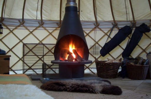 Romantic Fire in Yurt