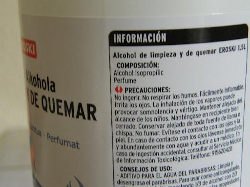 Isopropílico, y productos químicos en general. PC302160