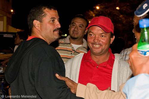 Phillip De La Fuente (left), the new mayor of Orange Walk Town.
