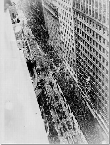 Lower Broadway Tickertape, 1928